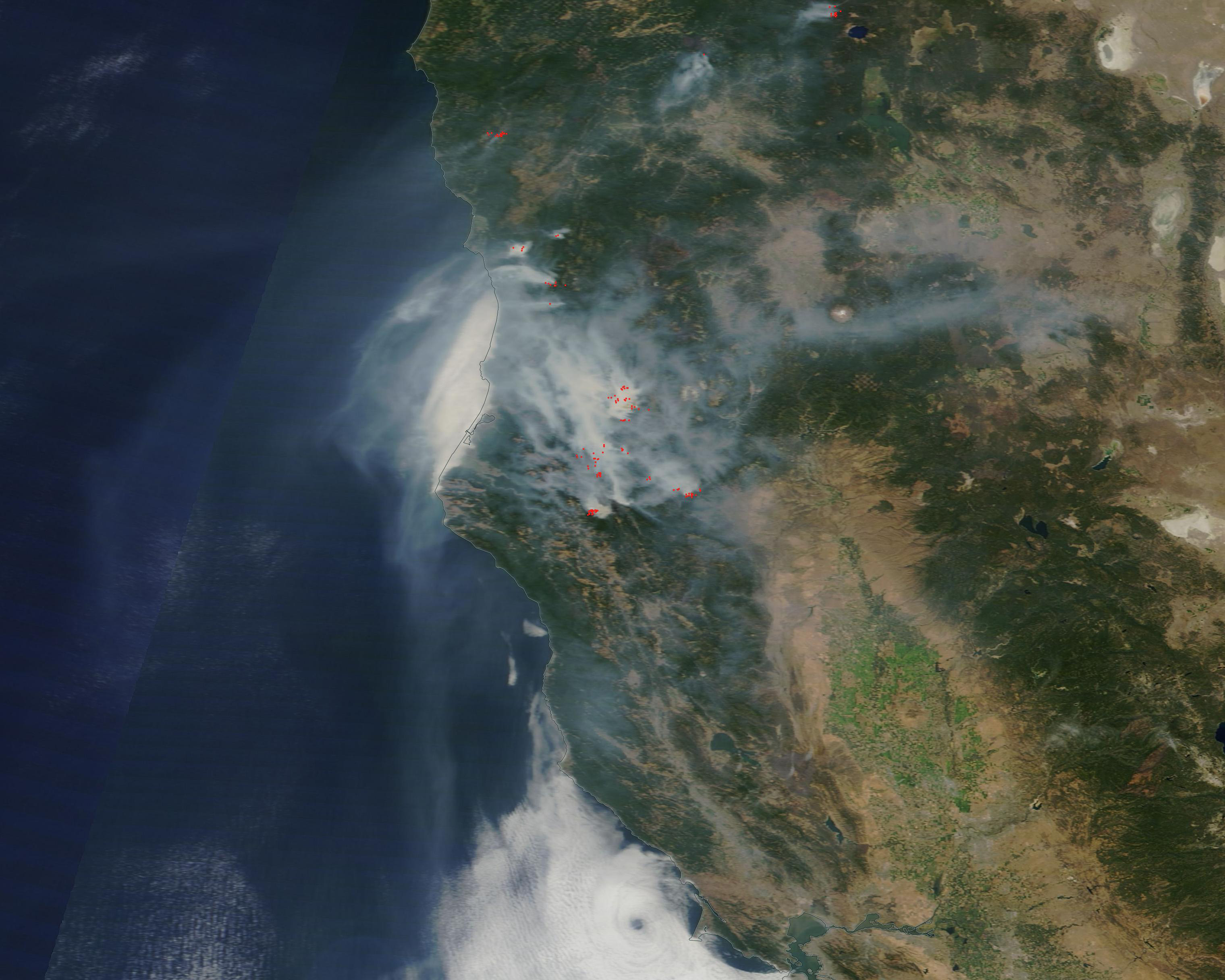 Blanket Of Smoke From Northern California Fires Nasa