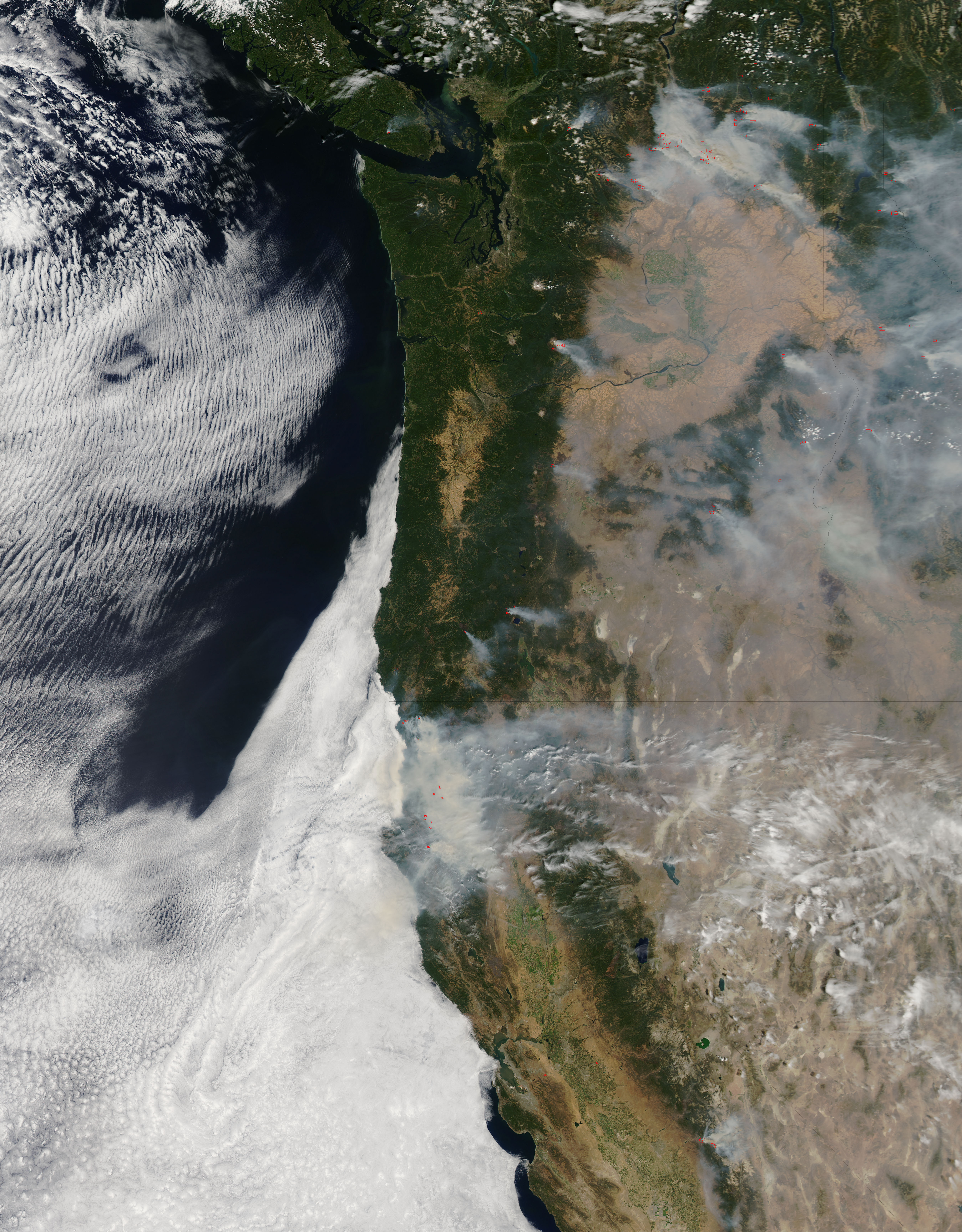 Fires Ravaging Washington Oregon and California NASA