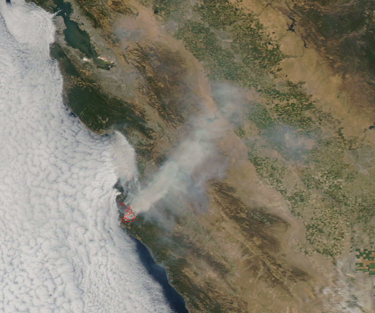 NASA: Sand and Soberanes Fires Still Blazing in California