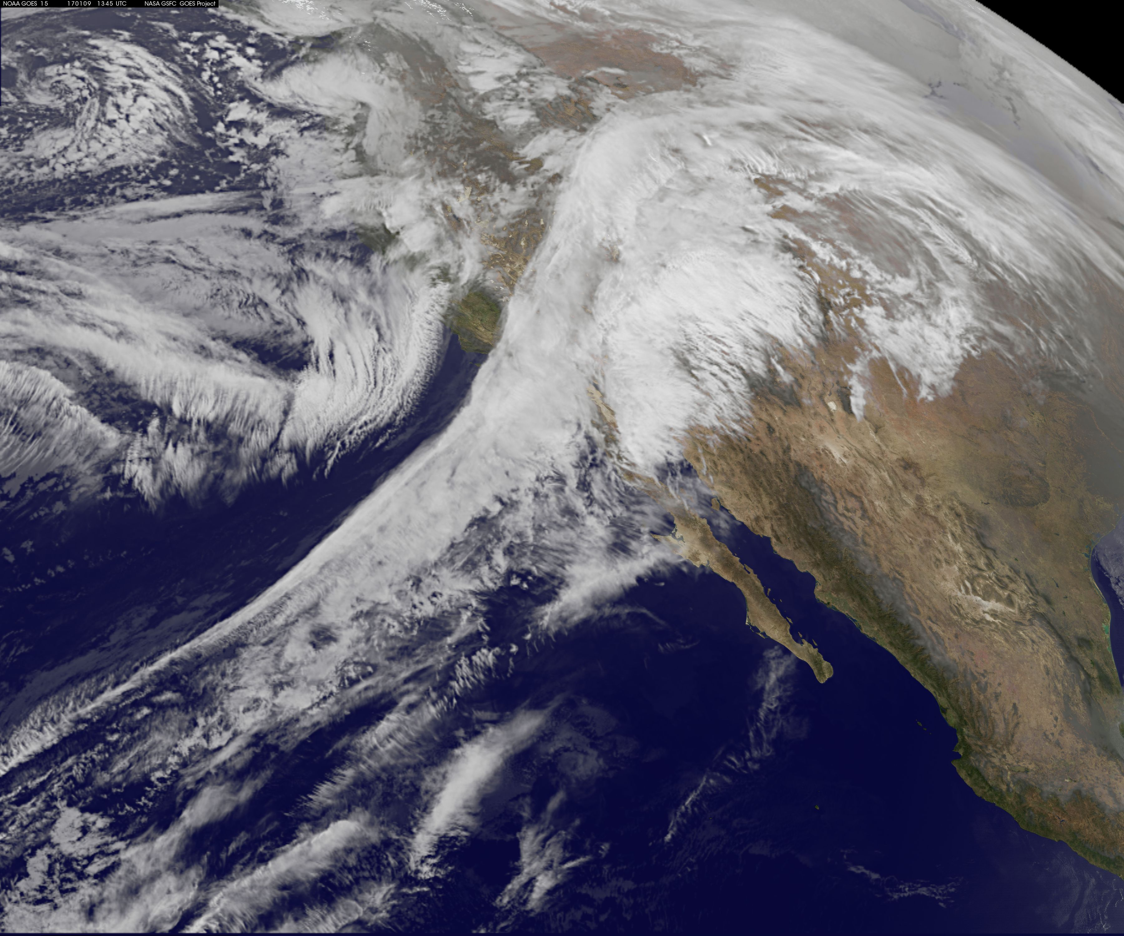 Goes Image Of Winter Storm In The Pacific Northwest