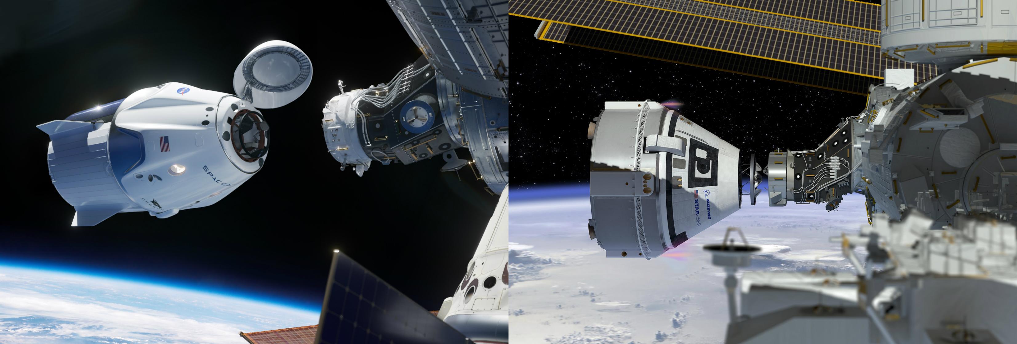 Vesmírné lodě Crew Dragon a Starliner CST-100
