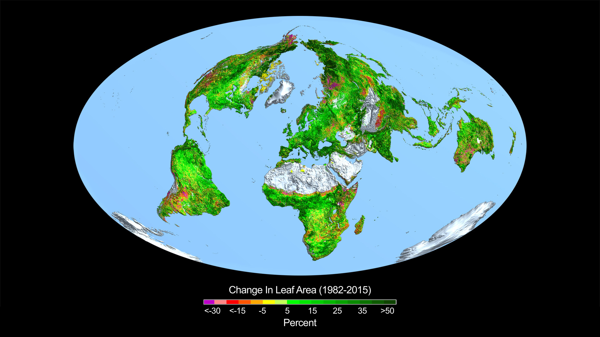 Carbon Dioxide Fertilization Greening Earth Study Finds NASA - Earth map show airplane travell from us to austrialia