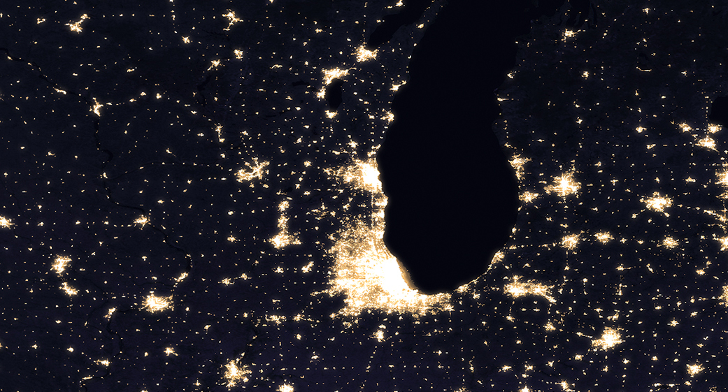 NASANOAA Satellite Reveals New Views Of Earth At Night NASA Night - Satellite map of us at night