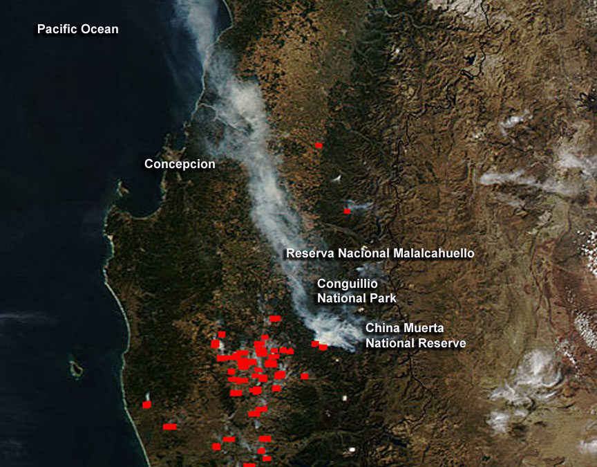 california map wildfires with Fires Continue In Three Of Chiles National Parks on Interactive Map Wine Country Fires as well Before After Images Valley Fire California as well Fire Season Explodes Early As Lightning Rolls Into Drought Stricken Nwt likewise Turning Up The Heat Wildfires What You Can Do besides Wildfire Thomas Fire Progression Map Acres Size 465199743.