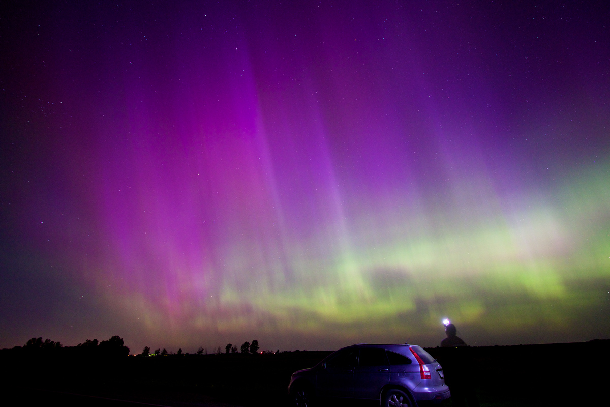 South dakota aurora seen on june 23 2015 nasa aloadofball Image collections