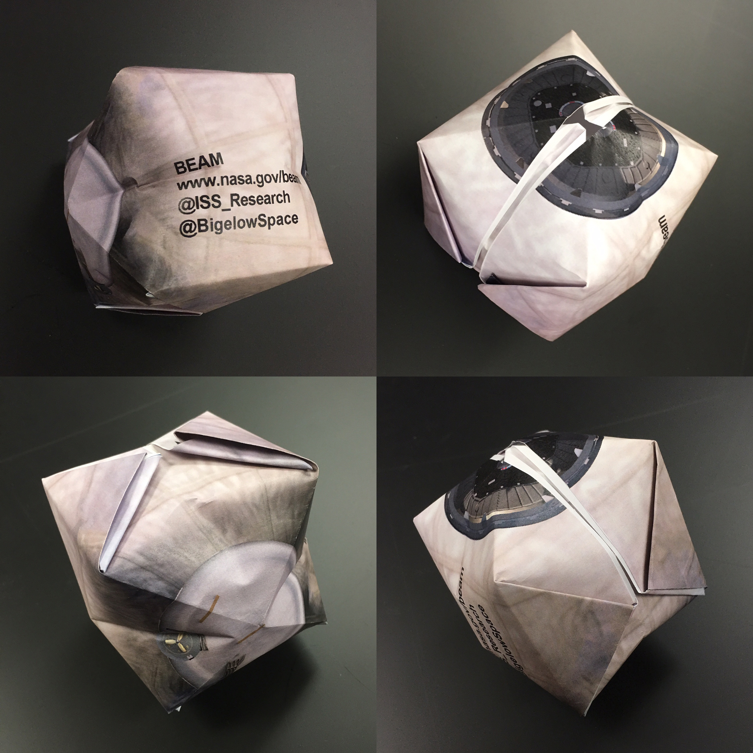 Fold and expand your own beam origami module nasa origabeami collage jeuxipadfo Choice Image
