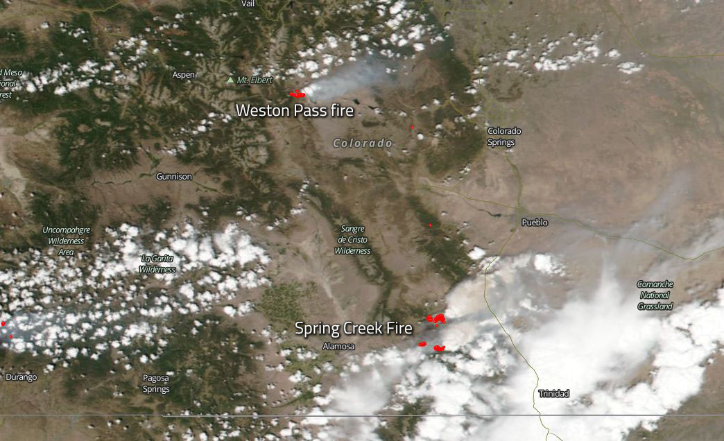 Two Colorado Fires Started In June Continue Into July Nasa