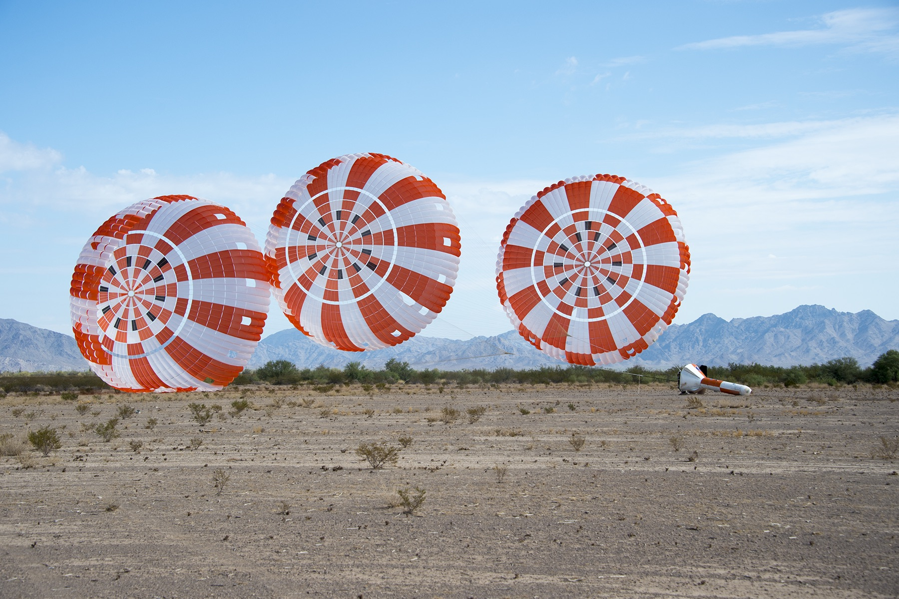Orion Parachutes Chalk Up Another Test Success in Arizona | NASA