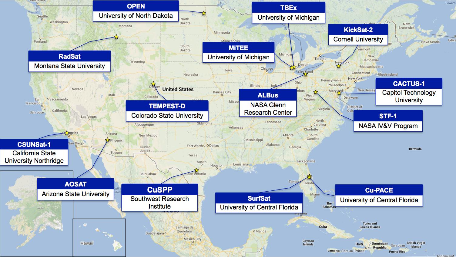 NASA Announces University CubeSat Space Mission Candidates ...