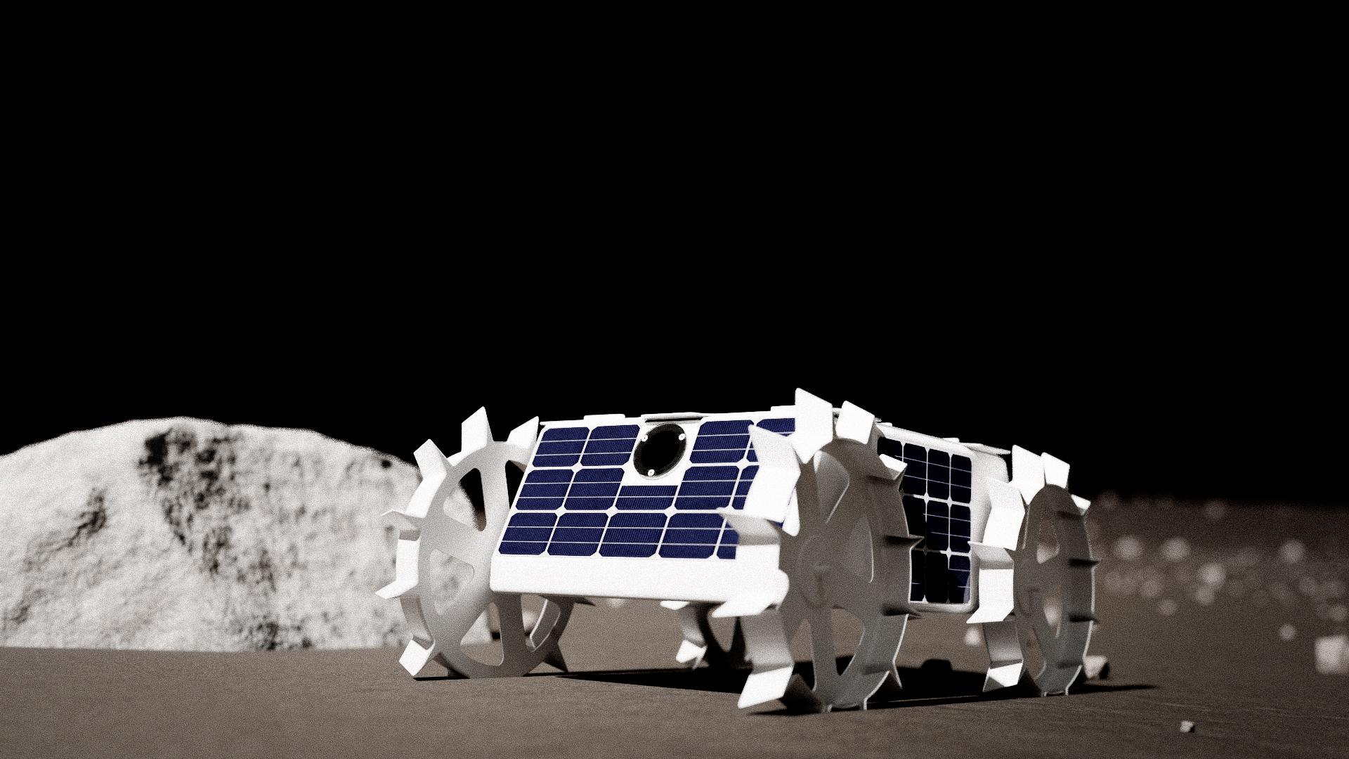 Astrobotic Cubrovers (astromobiles robots miniatures) Cuberover_side_profile