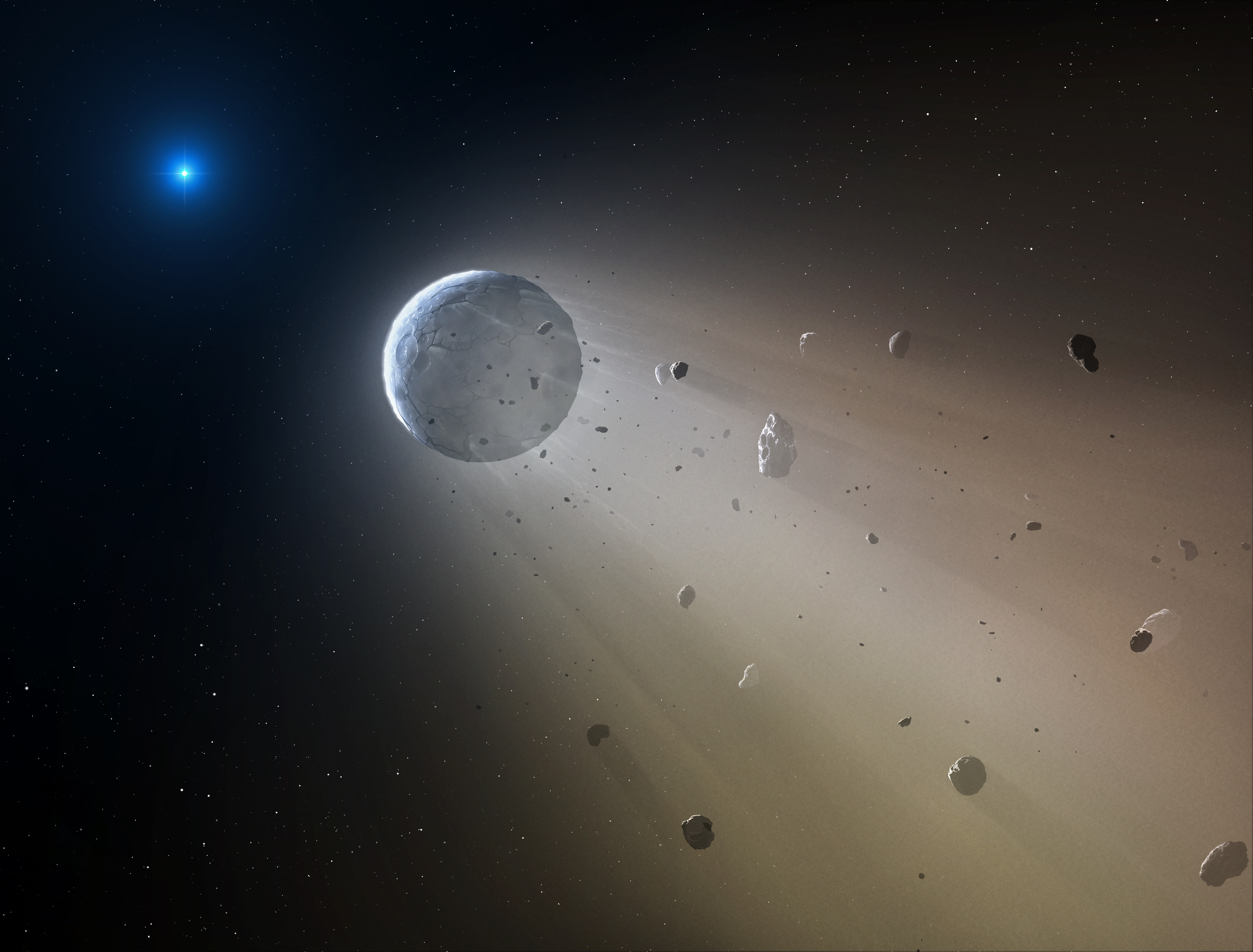 Nasas k2 finds dead star vaporizing a mini planet nasa kepler and k2 k2 finds white dwarf devouring mini planet ccuart Choice Image