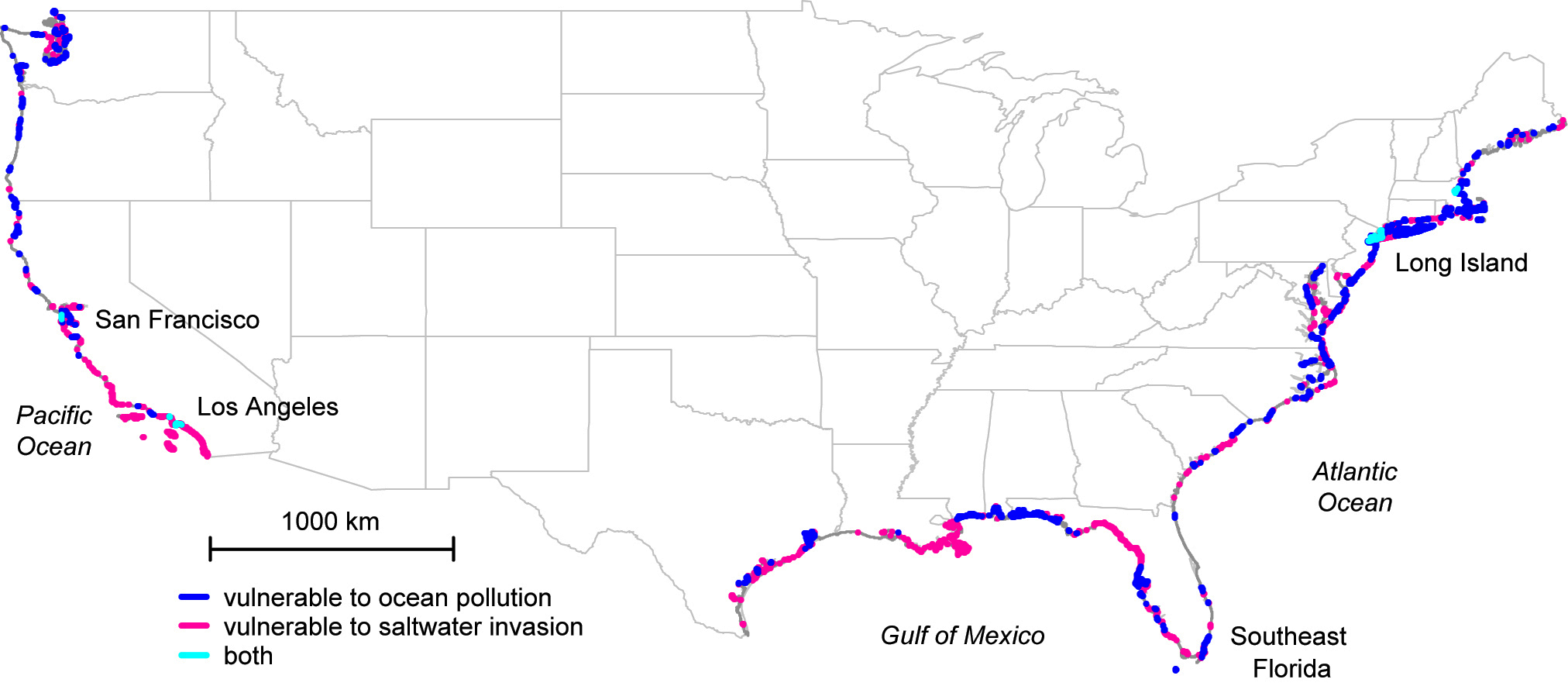 Map Of Coastal Florida.Study Maps Hidden Water Pollution In U S Coastal Areas Nasa