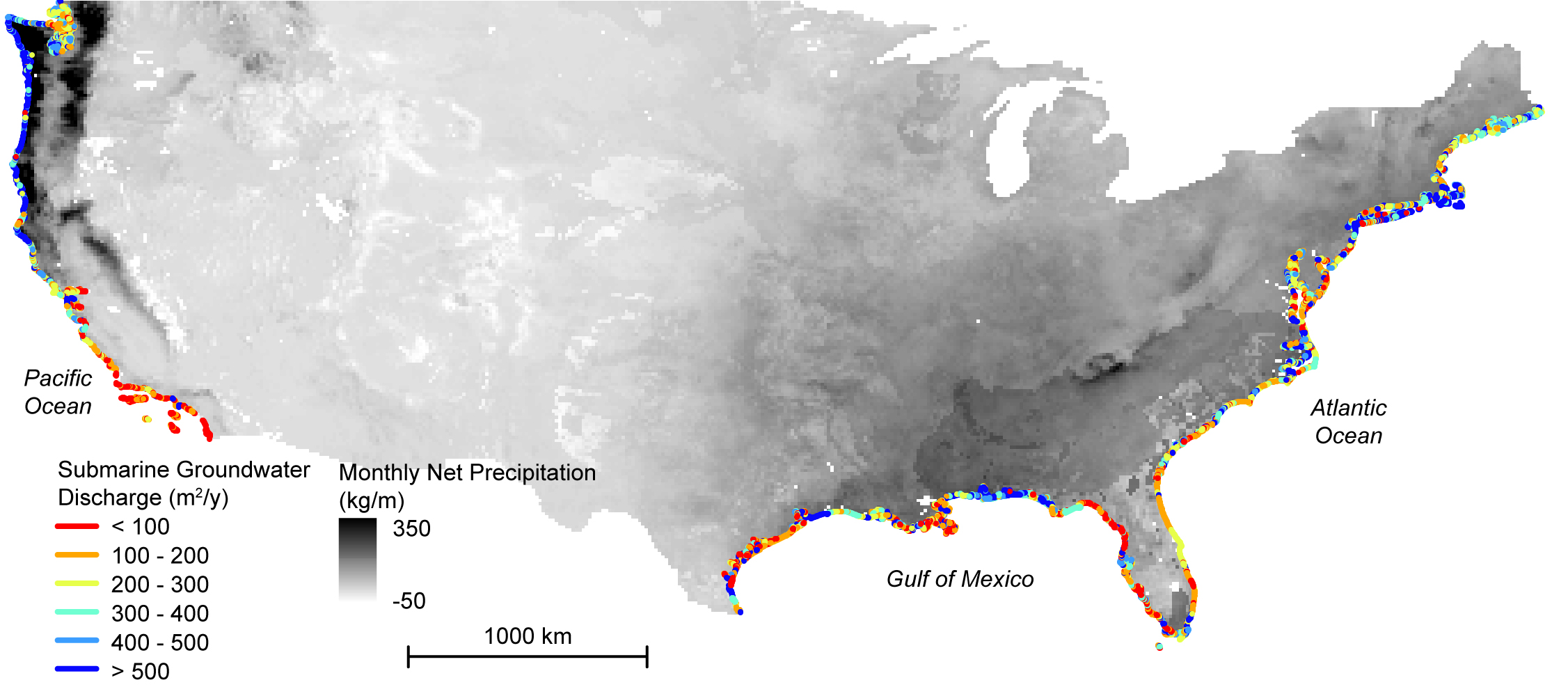 Map Of America Gulf Coast.Study Maps Hidden Water Pollution In U S Coastal Areas Nasa