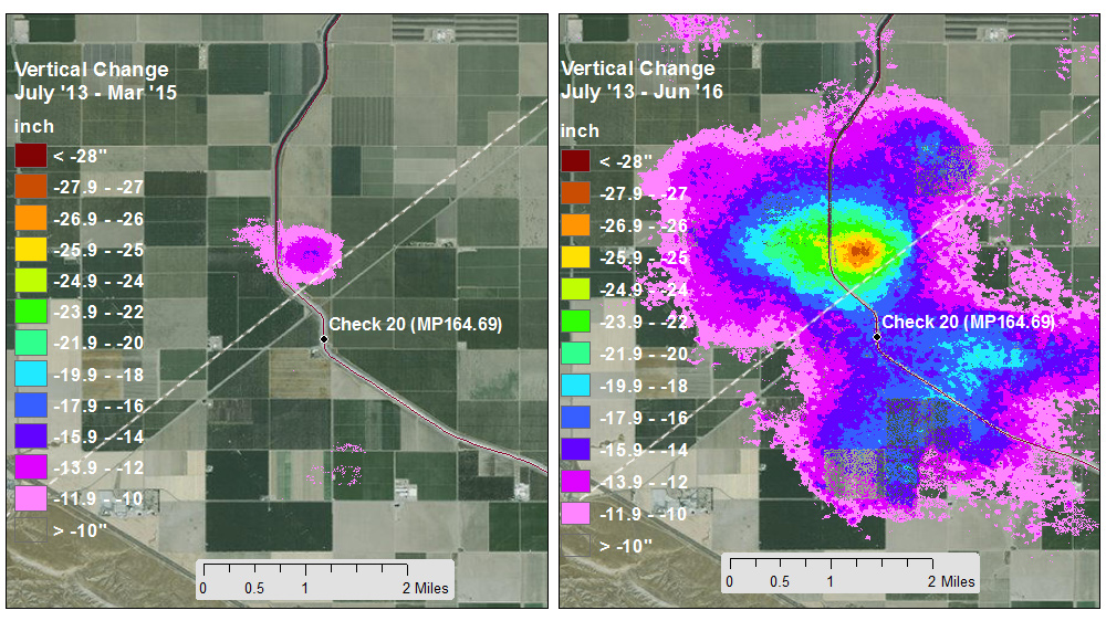 Relative Expansion Of The Subsidence Bowl Centered Just North Of Avenal Cut Off Rd