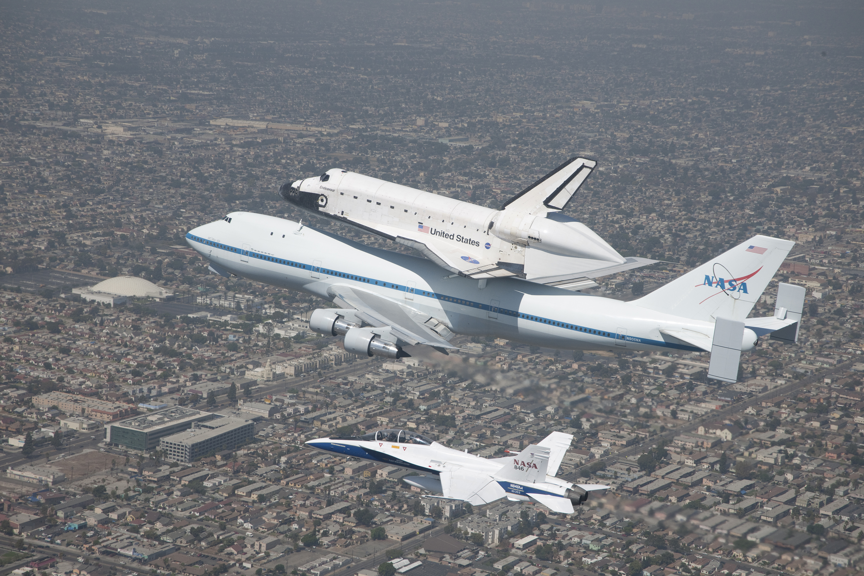 helius lighting group. space shuttle endeavour is affixed atop nasau0027s 747 carrier aircraft helius lighting group