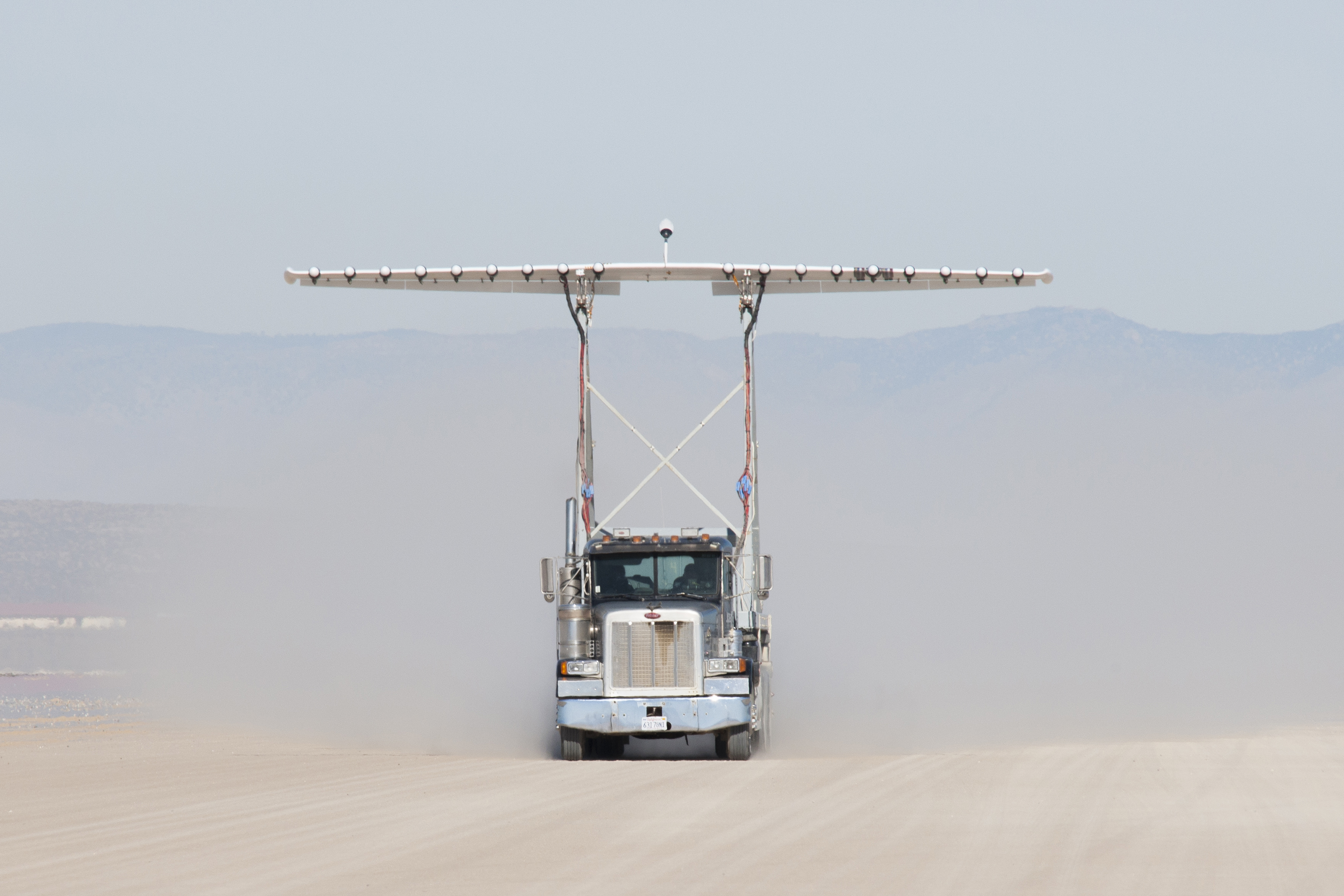 Engineers Gather Aerodynamic Data On The Integrated Experimental Testbed  Without The Electric Motor Propellers.  How Would You Weigh A Plane Without Scales