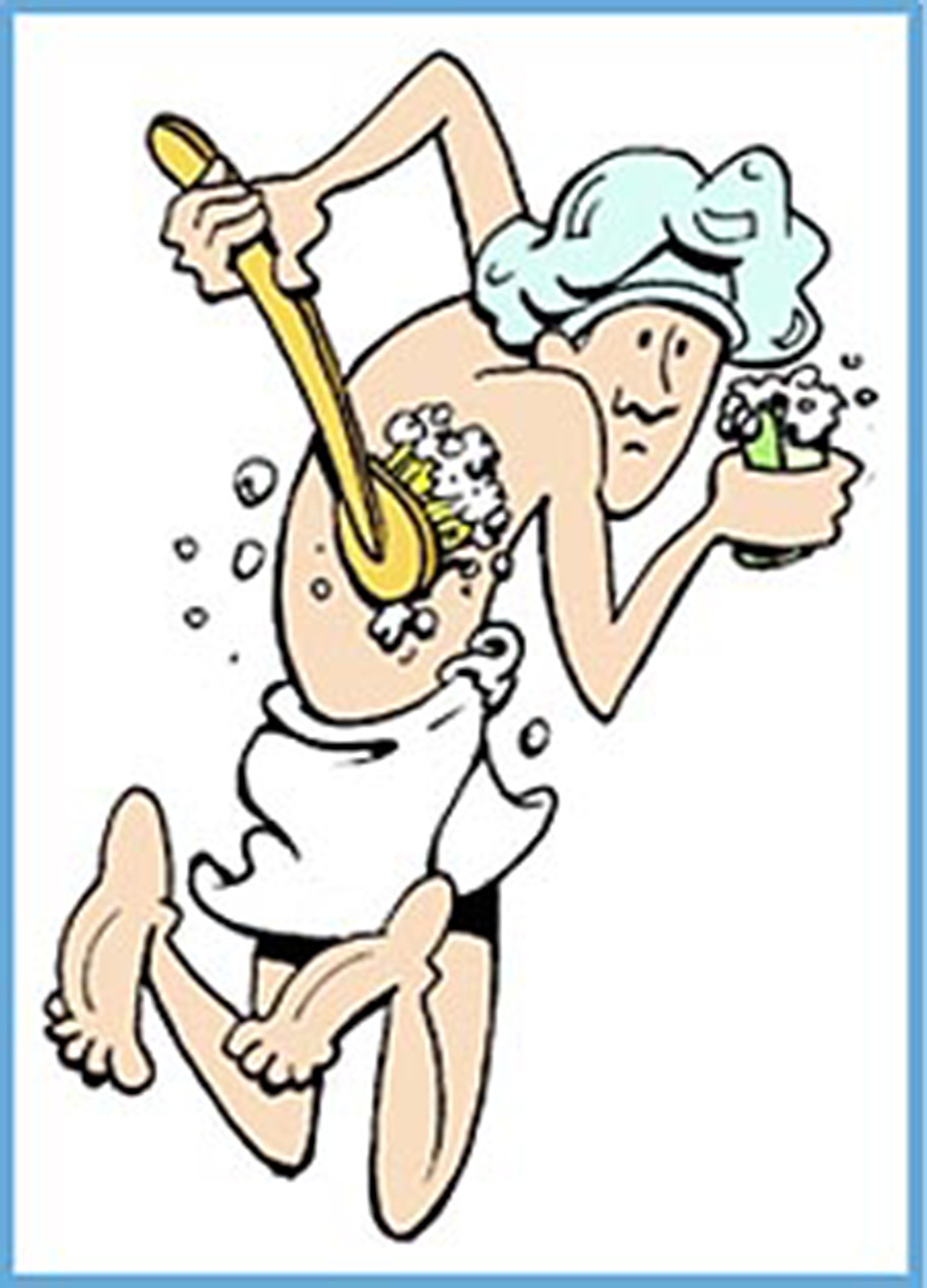 Washing yourself clipart