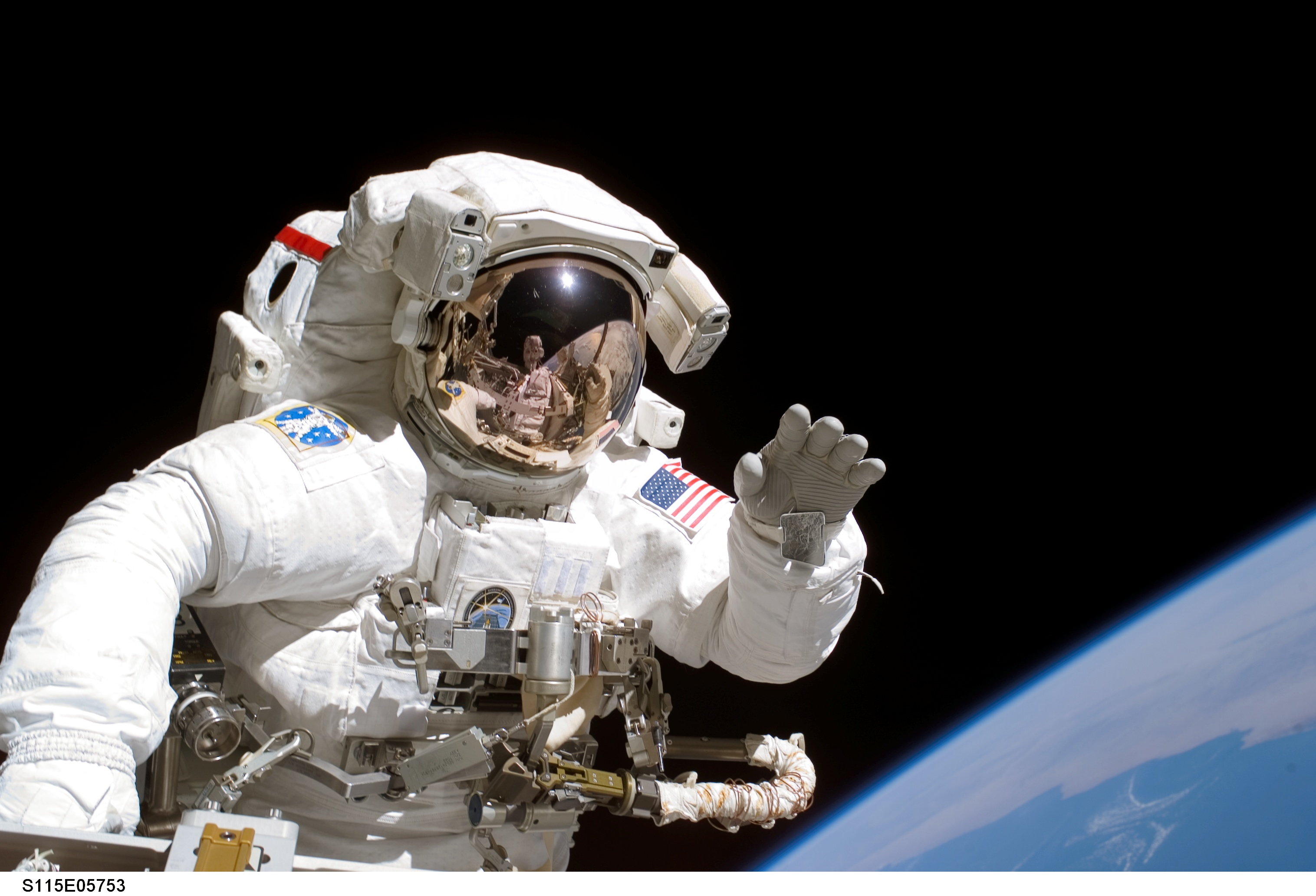 astronaut in outer space observe sky as - photo #33