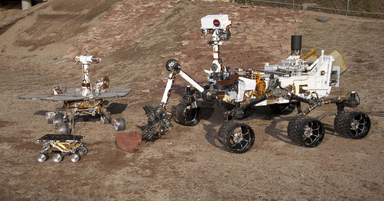 Models of three different mars rovers the mars exploration rover mission