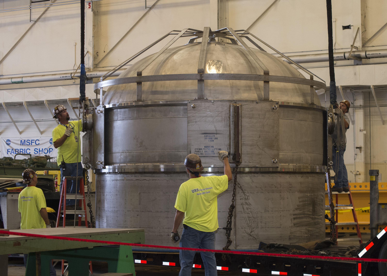 Shiiver Tank Arrives At Marshall Center For Spray On Foam