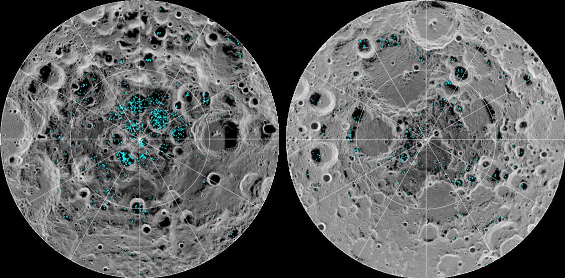 Ice Confirmed at the Moon's Poles   NASA