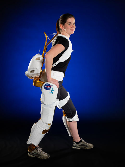 NASA Project Engineer Shelley Rea demonstrates the X1 Robotic Exoskeleton.  sc 1 st  Nasa & First Humanoid Robot In Space Receives NASA Invention of the Year | NASA