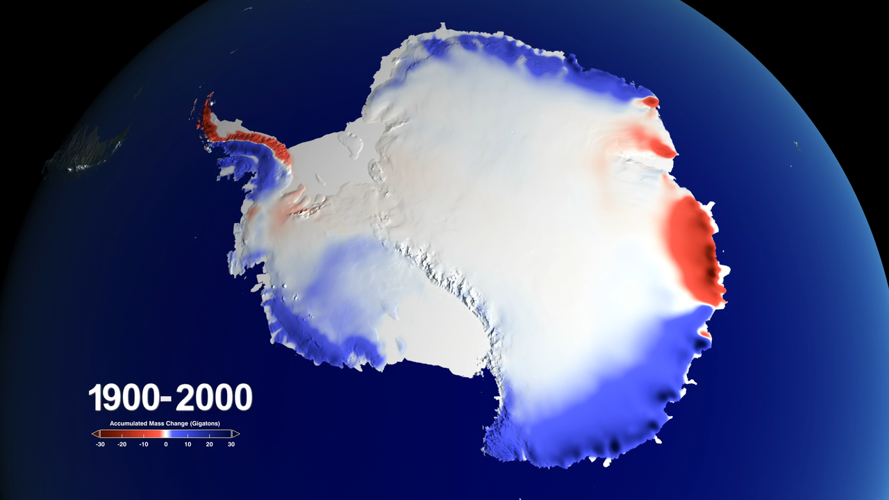 Image: Snow over Antarctica Buffered Sea Level Rise during Last Century