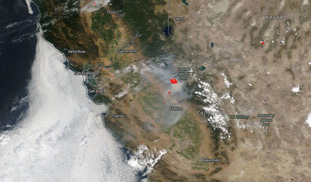 Ferguson Fire Jumps to Near 23K Acres in Size | NASA