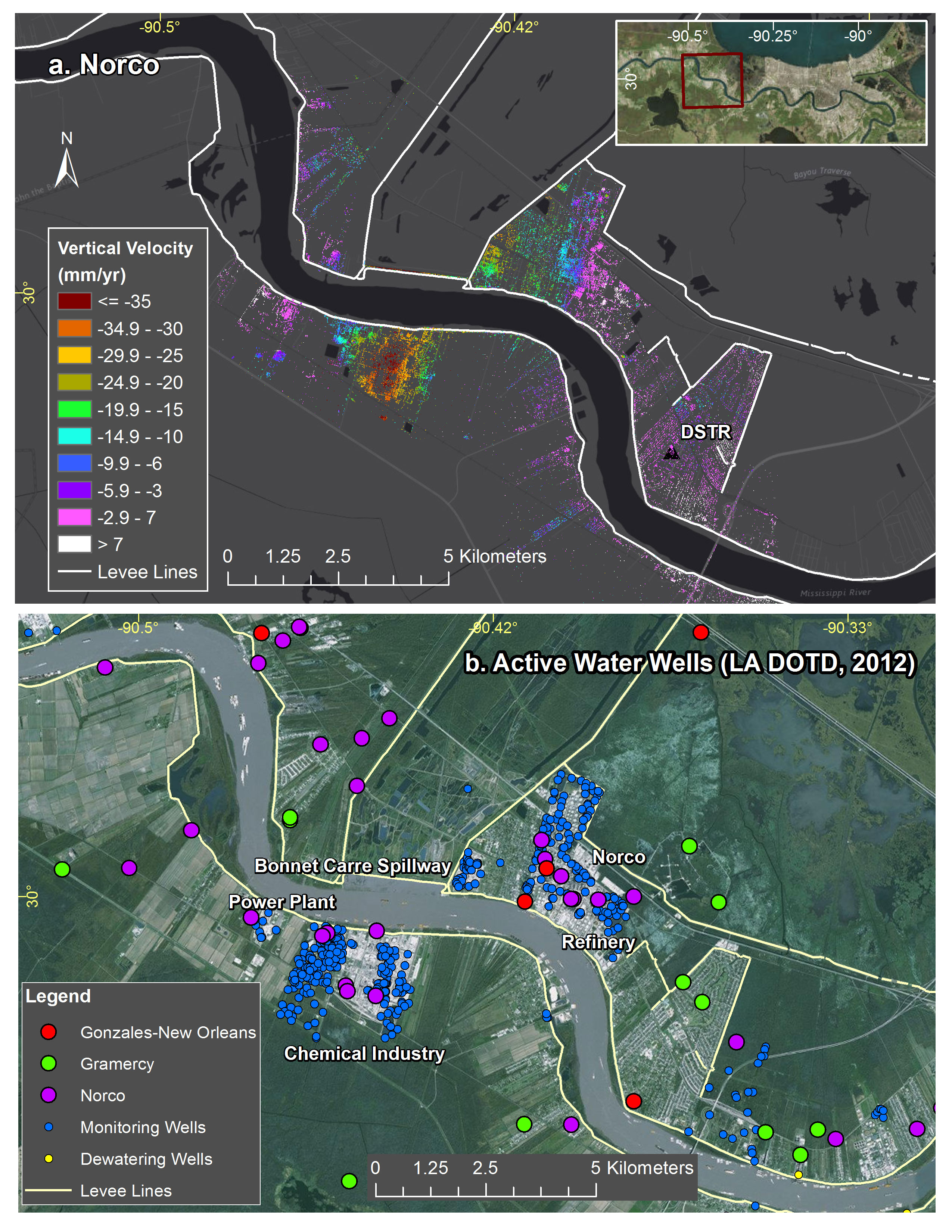 New Study Maps Rate of New Orleans Sinking NASA