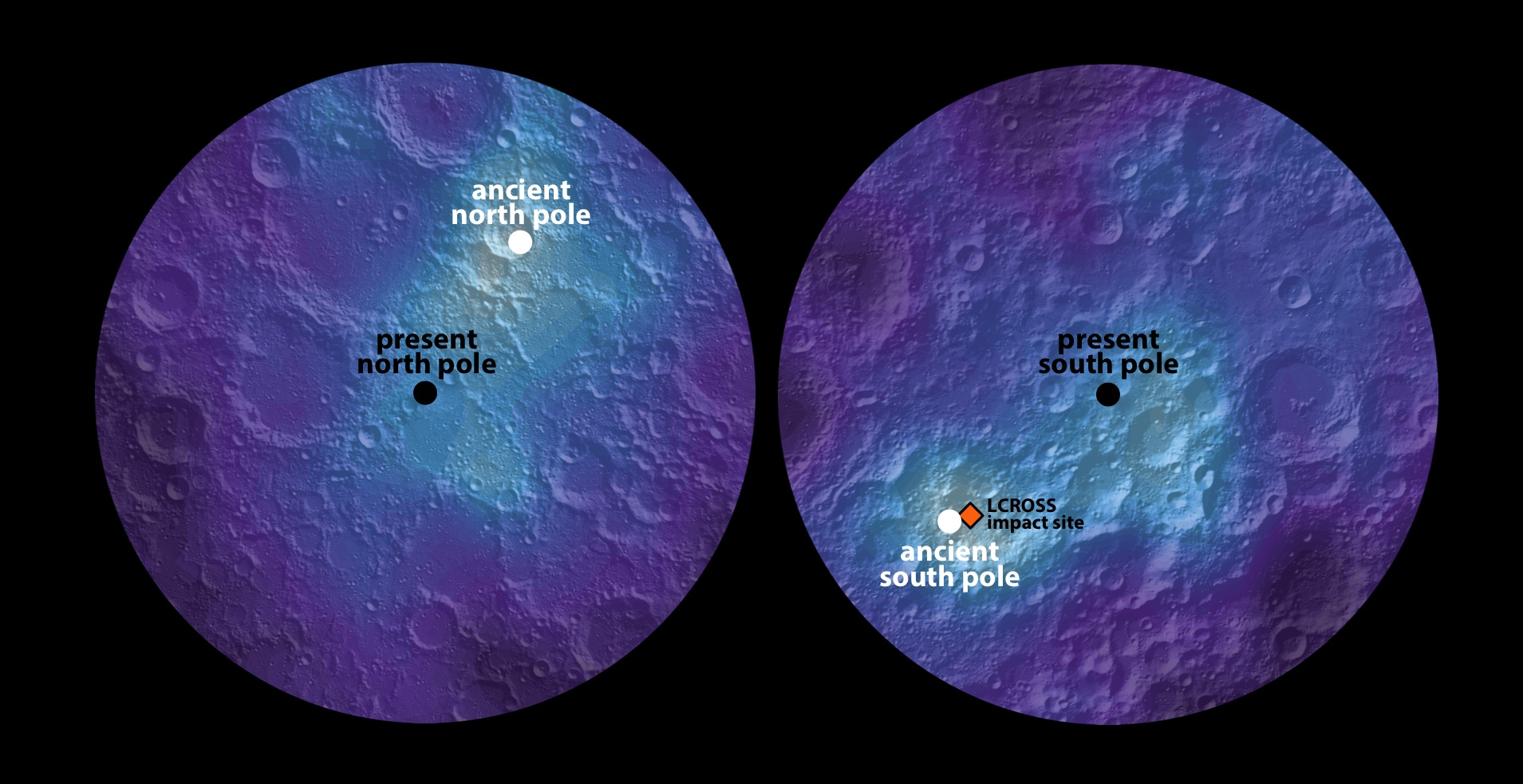 Ancient Polar Ice Reveals Tilting Of Earths Moon NASA - Map reveals what the earth would look like if all the polar ice melted 2