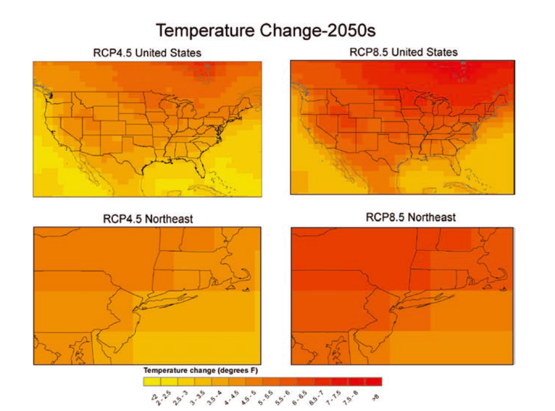 NASA Science Leads NYC Climate Change Report NASA - Climate change projections us map