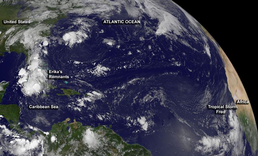Hurricanes Iselle and Julio Nearing the Hawaiian Islands   NASA