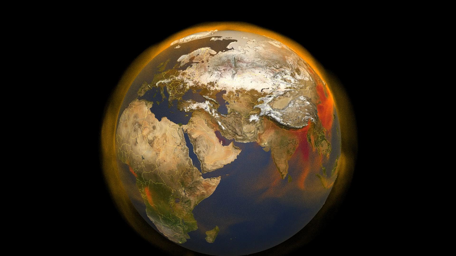 La Tierra rodeada de metano