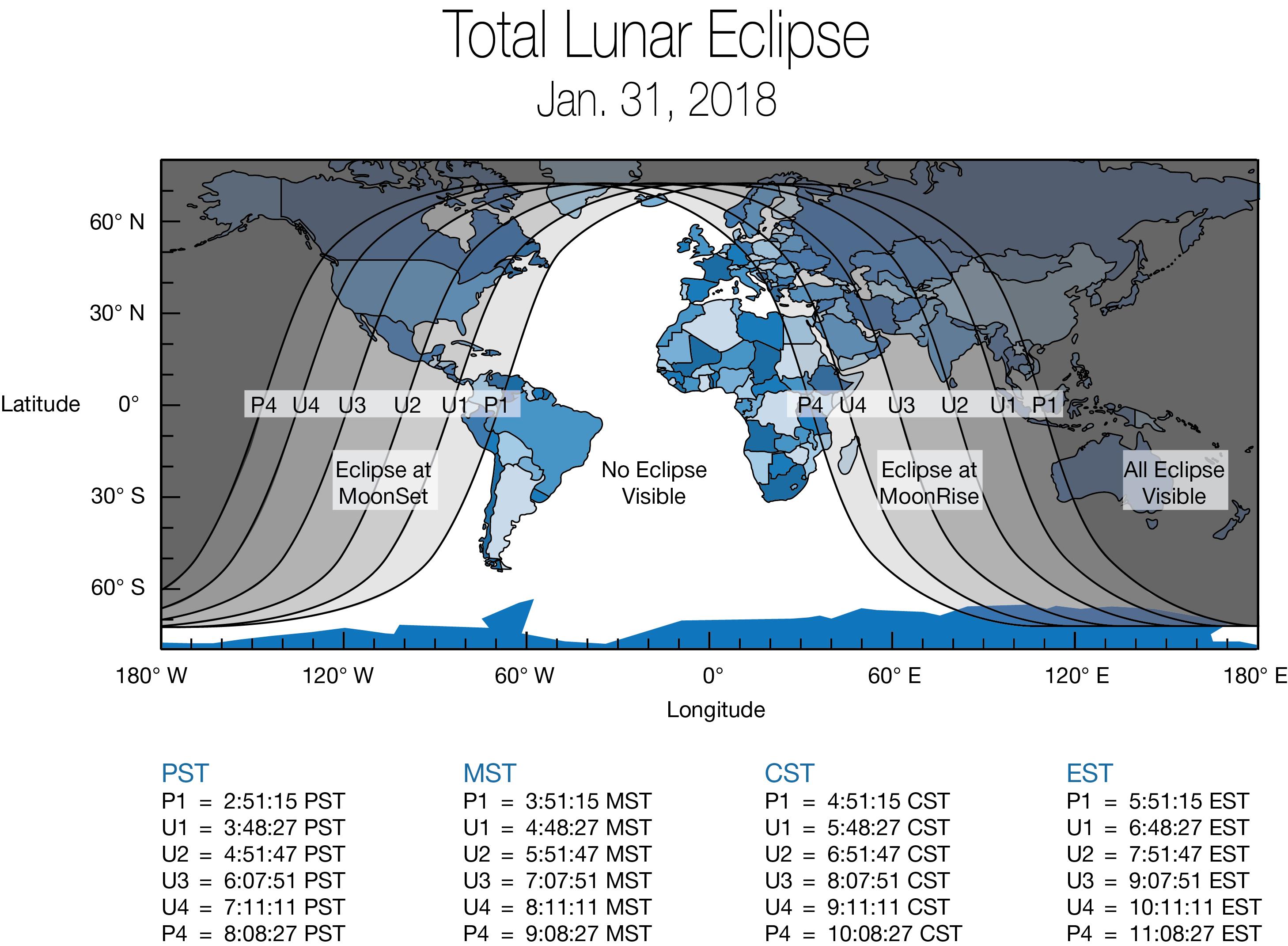 Super Blue Blood Moon Coming Jan NASA - 31 jan