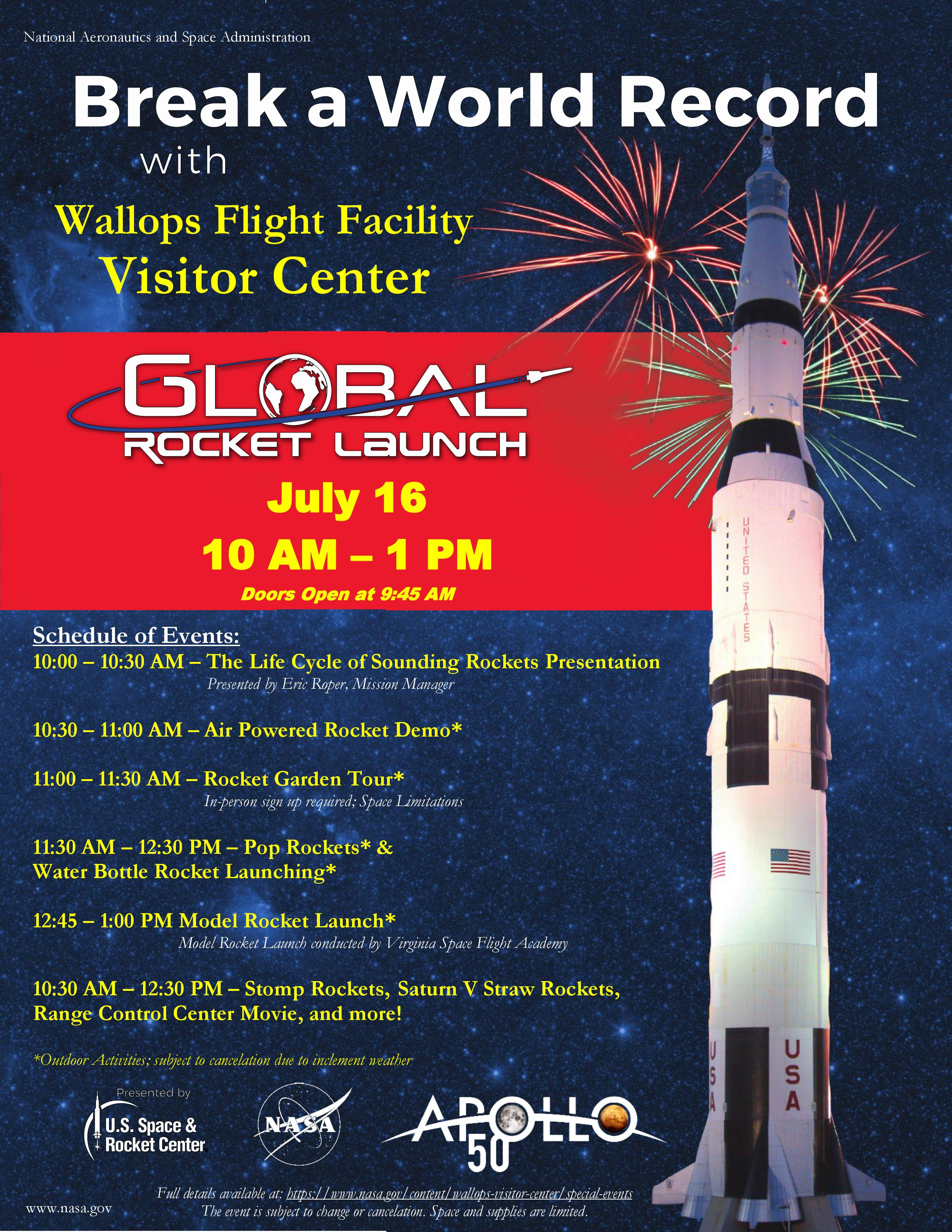 148b555308 Global Rocket Launch. Tuesday, July 16, 2019. GRL