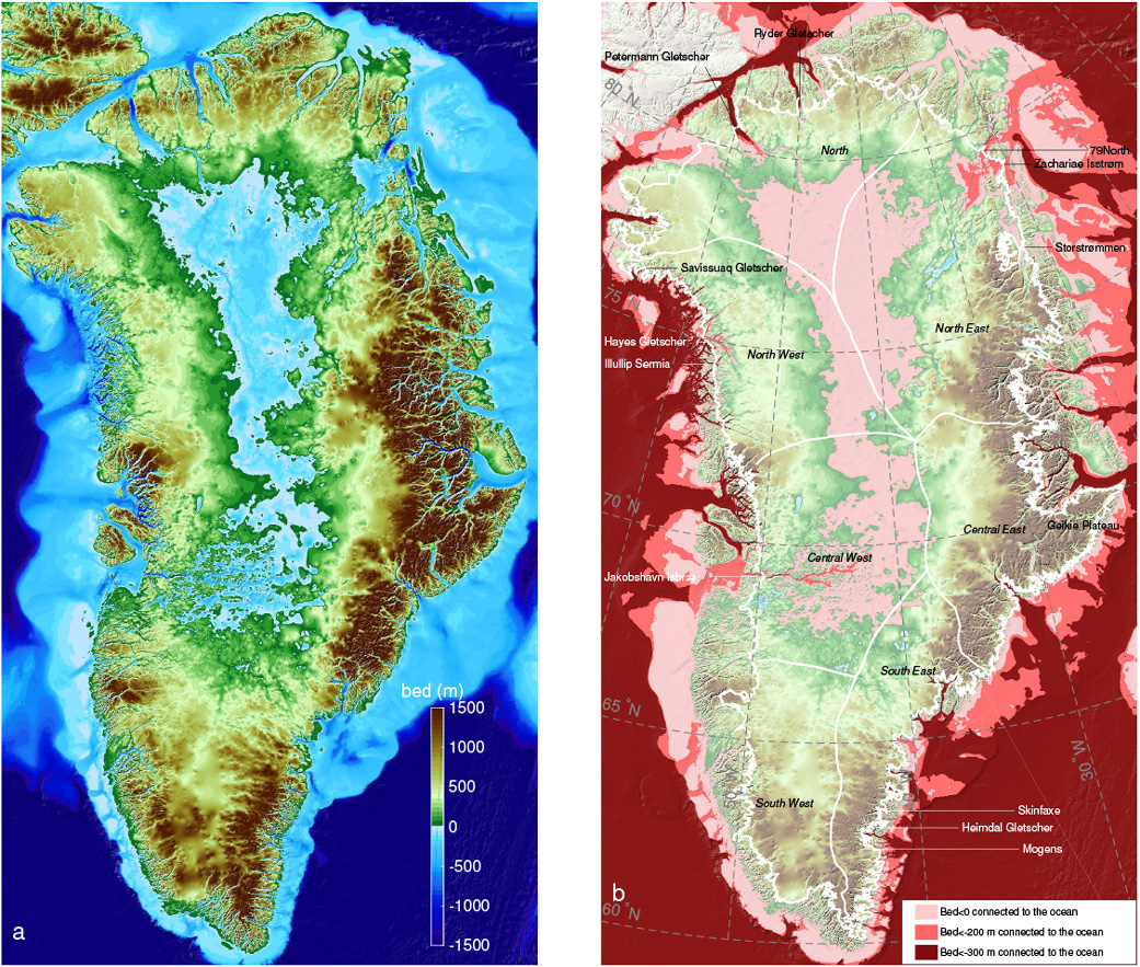 New greenland maps show more glaciers at risk nasa sciox Image collections