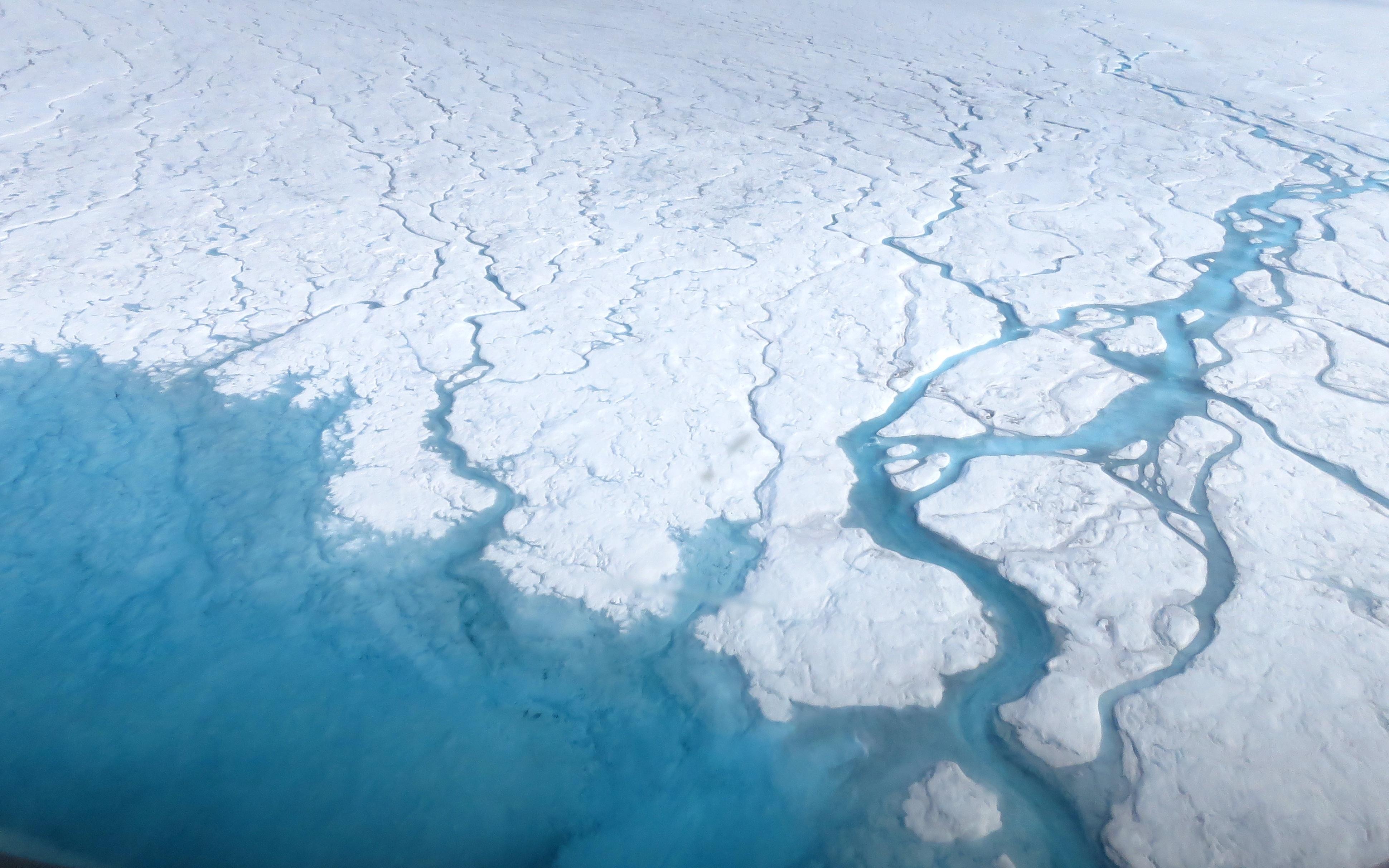 warming seas melting ice sheets nasa