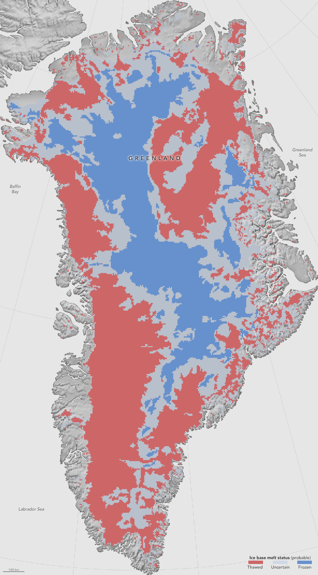 NASA Flights Map Summer Melt Of Greenland Land Ice NASA - Map of us if ice caps melt
