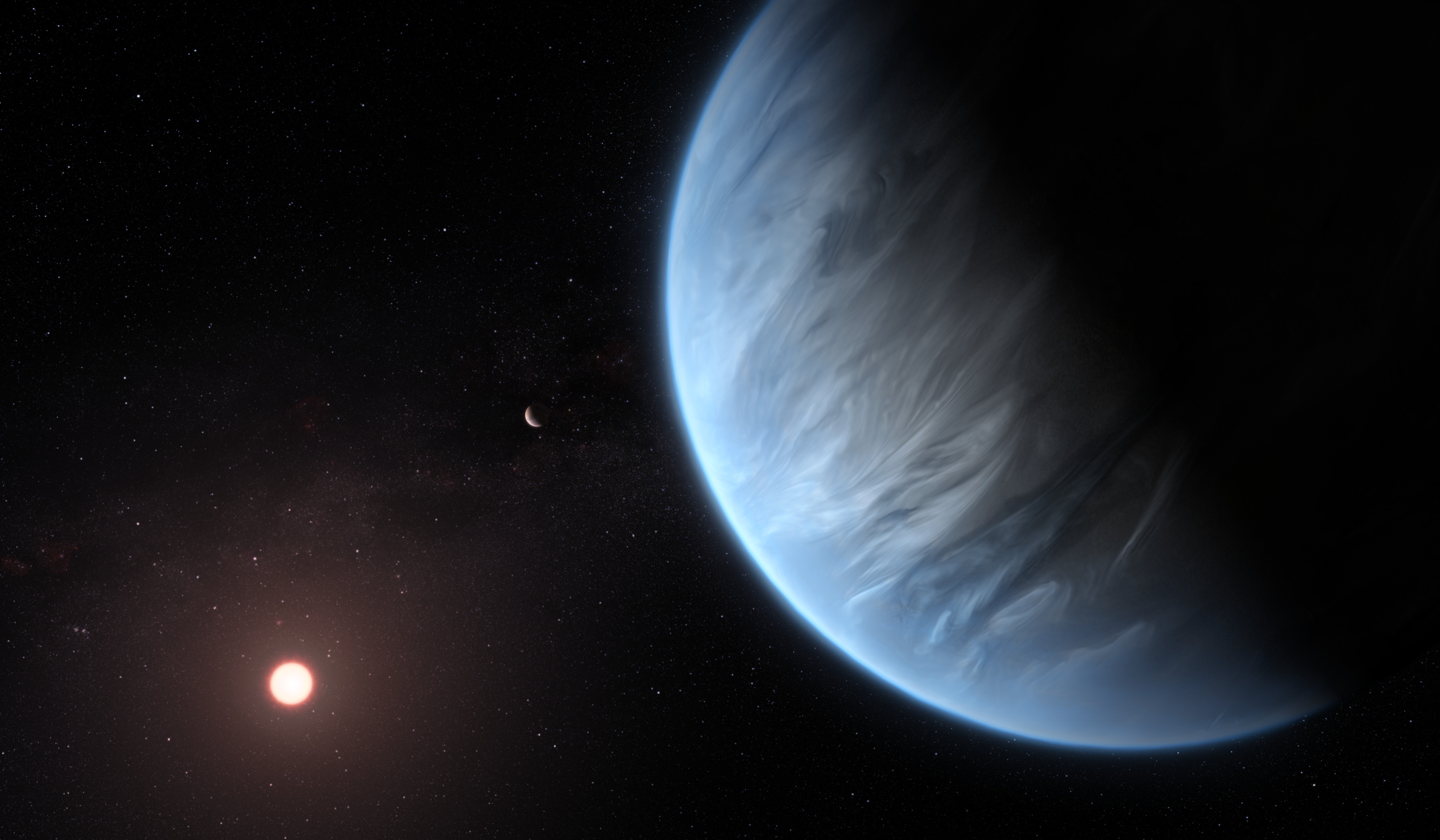 Hubble Finds Water Vapor on Habitable-Zone Exoplanet for 1st Time