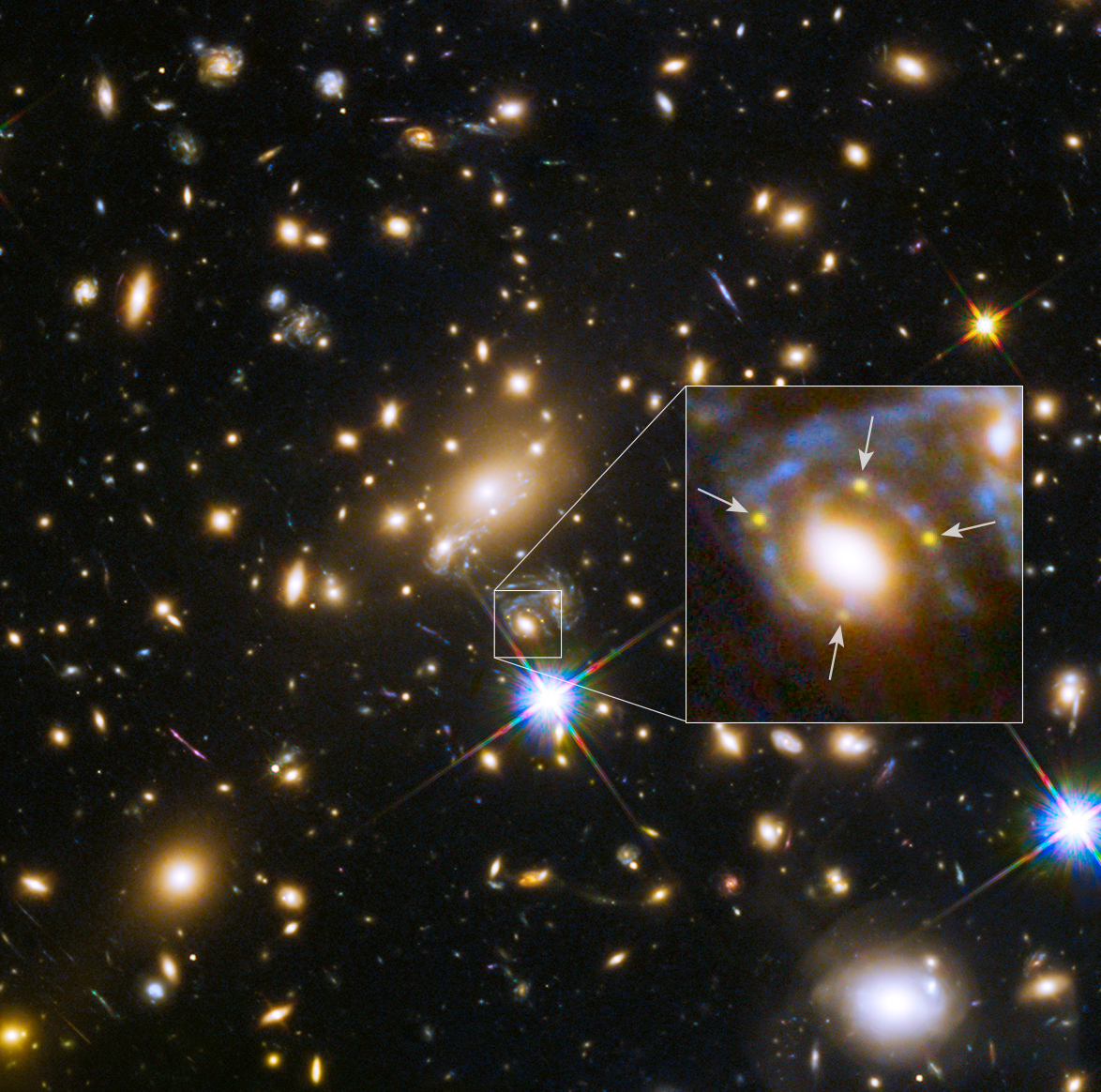 Hubble Discovers Four Images of Same Supernova Split by ...