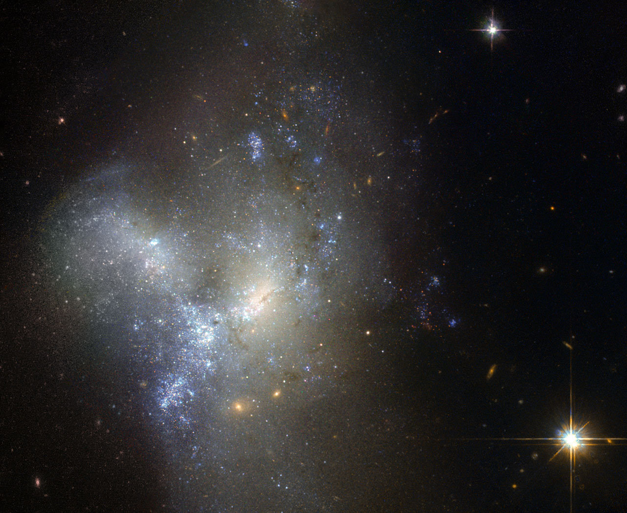 Hubble Views Merging Galaxies in Eridanus