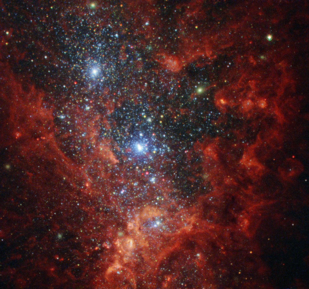 Hubble hotbed of vigorous star formation nasa for Immagini galassie hd