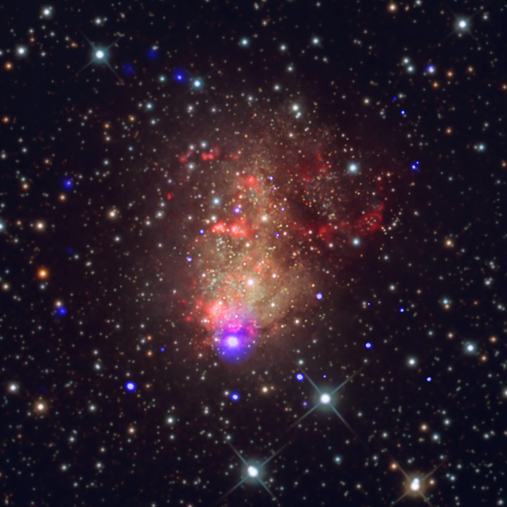 ic10_optical_xray Cool Nasa News - A Starburst with the Prospect of Gravitational Waves - #cool #Space #News
