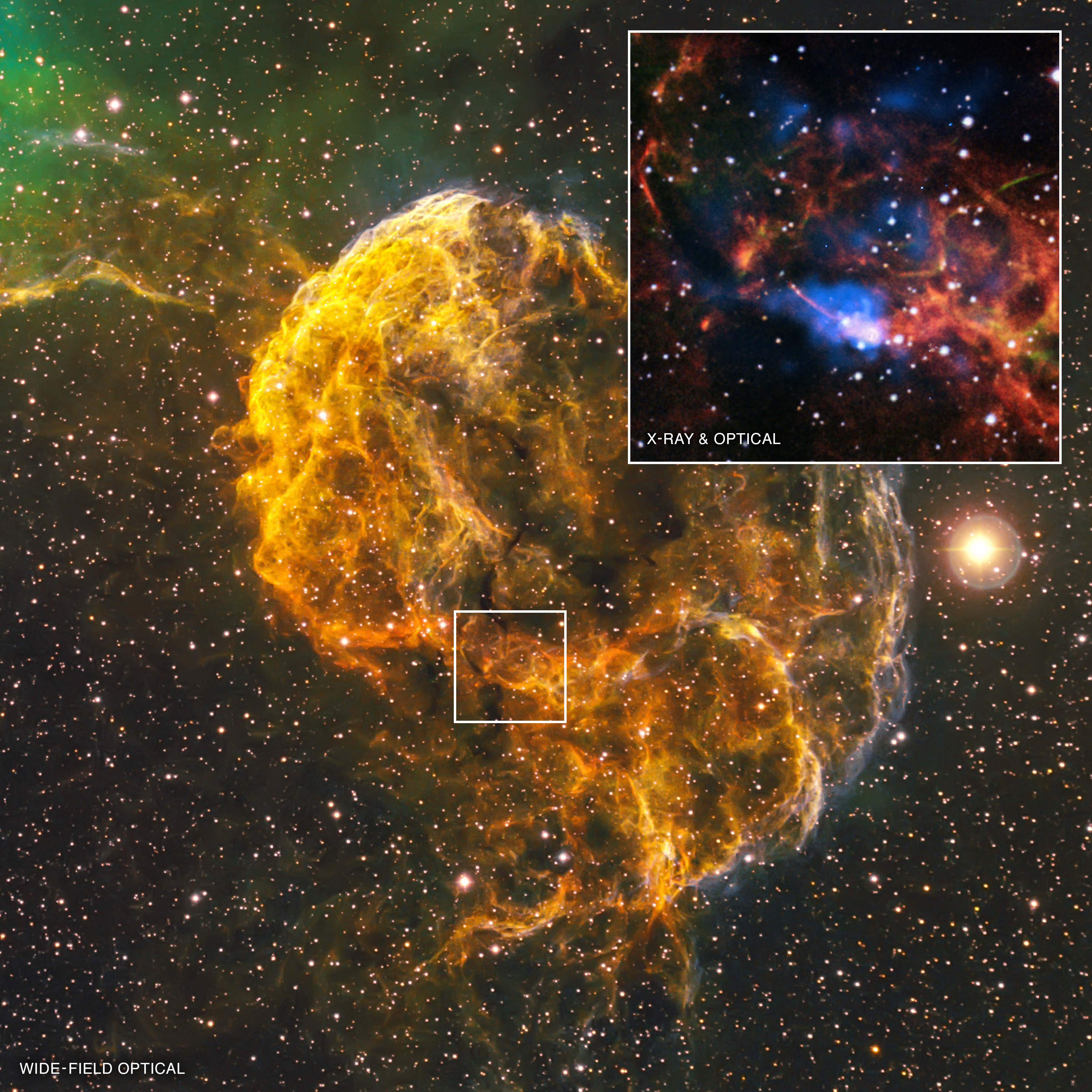 what spawned the jellyfish nebula nasa