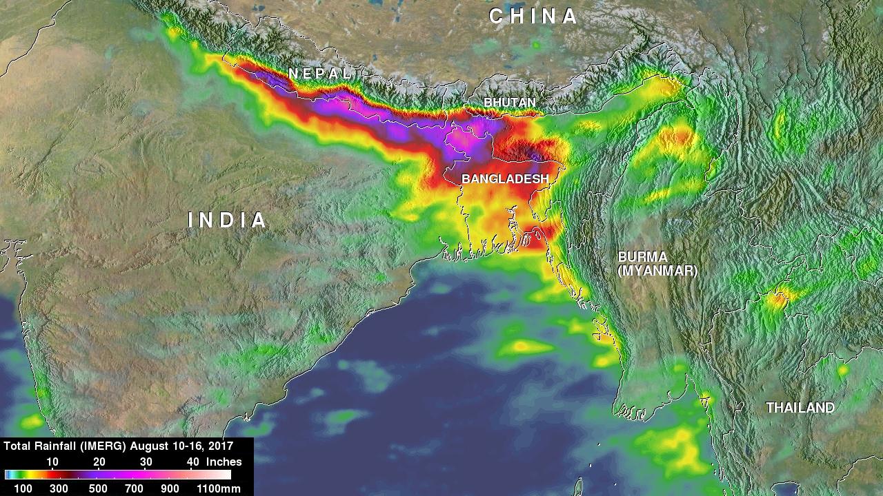 NASA\'s IMERG Measures Deadly Rainfall in Southern Asia | NASA