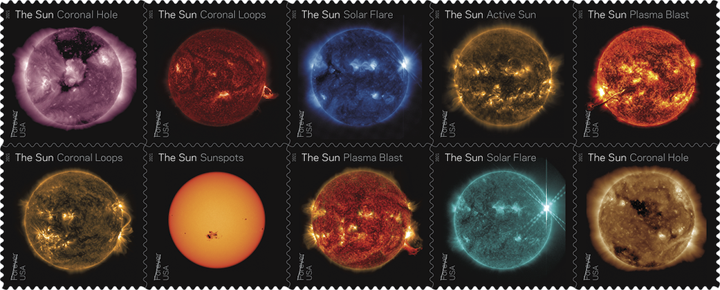 The US Postal Service to Issue NASA Sun Science Forever Stamps - NASA