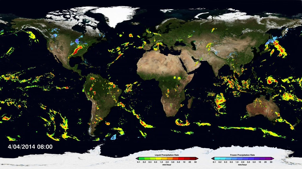 First Global Rainfall Snowfall Map from New Mission  NASA