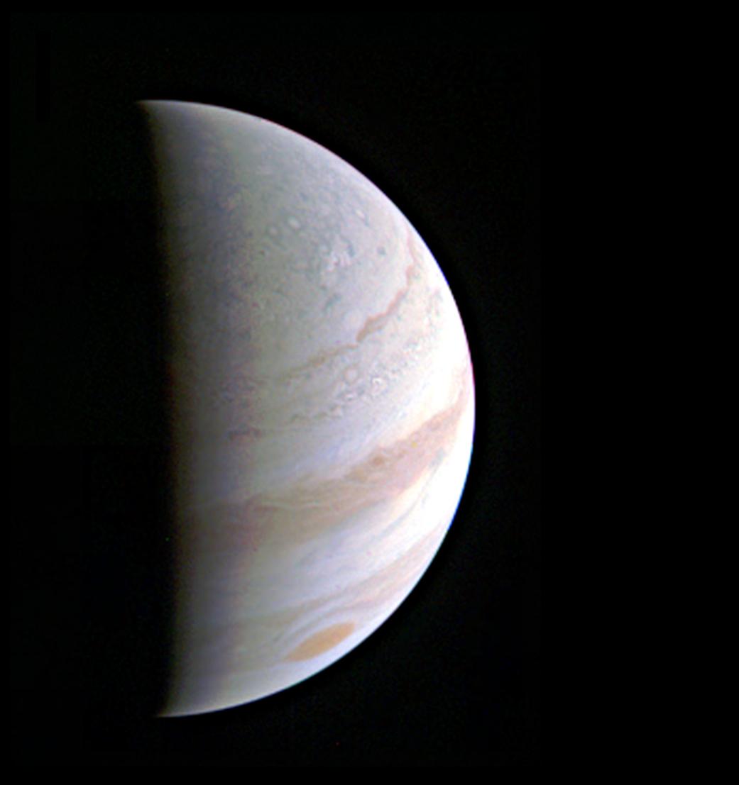Speeding Towards Jupiter's Pole