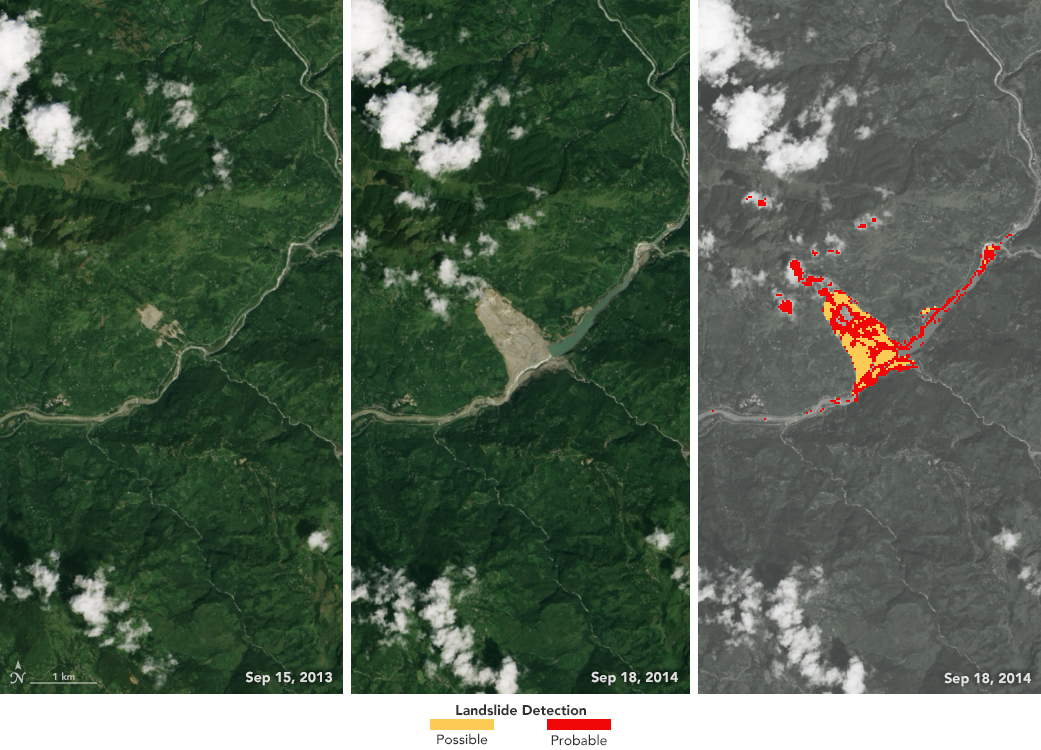 NASA Data Detects Potential Landslides | NASA