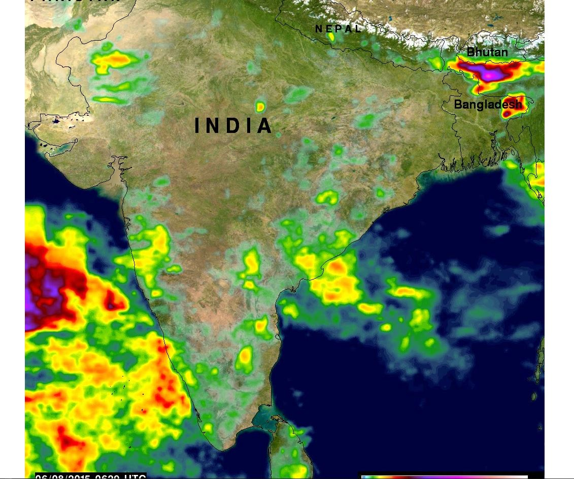 Monsoon Map India Satellite NASA Sees the Start of India's Monsoon Season